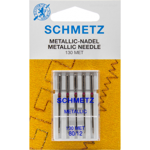 Aiguilles SCHMETZ pour fil métal 80/12