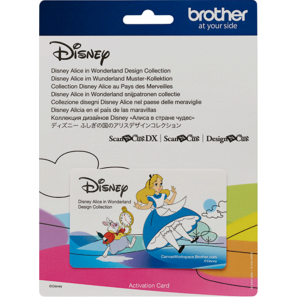 Brother ScanNCut Collection de créations Disney Alice au pays des merveilles carte n°09