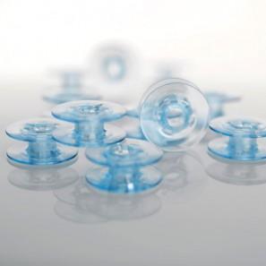 Canette Plastique Bleue, Paquet de 10 PFAFF